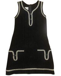 Chanel Tweed Mid-length Dress - Black