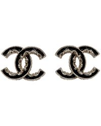 Chanel Cc Gold Metal Earring - Metallic