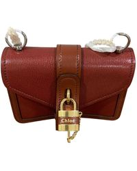 Chloé Aby Leather Bag - Brown