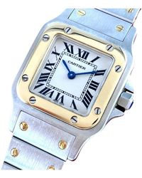 Cartier Santos Galbée Silver Gold And Steel Watches - Multicolour
