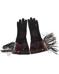 Chanel - Black Leather Gloves - Lyst