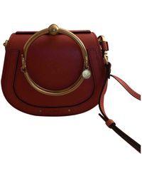 Chloé Bracelet Nile Leder Handtaschen - Rot