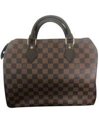 Louis Vuitton Speedy Brown Cloth Handbag - Multicolour