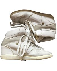 Michael Kors Leather Trainers - White