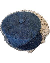 Dior Cappelli in cotone blu