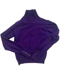 Burberry Cashmere Sweater - Purple