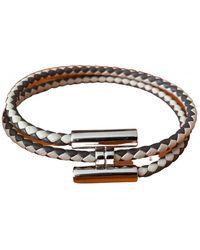 Hermès Tournis Leather Bracelet - Grey