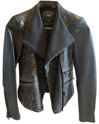 Maje Leather Biker Jacket - Black
