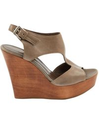 Gianvito Rossi - Pre-owned Grey Leather Sandals - Lyst