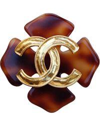 Chanel Spilla marrone CC