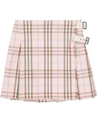 Burberry \n Pink Cotton Skirt