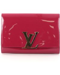 Louis Vuitton - Pre-owned Louise Patent Leather Clutch Bag - Lyst