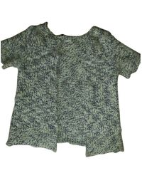 Maje Jersey en lana crudo - Verde