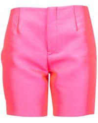 Jil Sander - Pink Polyester Shorts - Lyst