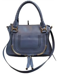Chloé Marcie Leder Handtaschen - Blau