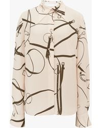 Victoria Beckham Fitted Shirt In Khaki - Natural