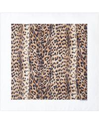 Victoria Beckham Silk Foulard In Leopard Print - Multicolour