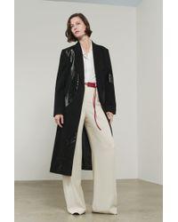 Victoria Beckham - Appliquèd Tailored Coat - Lyst