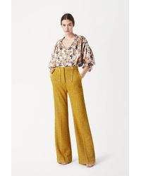 Victoria Beckham Victoria Trousers In Mustard - Yellow