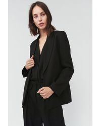 Victoria Beckham Slim Fit Metallic Jacket - Black