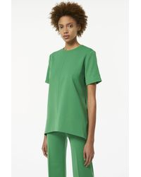 Victoria Beckham High-waisted Cropped Trouser In Foliage Green