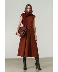 Victoria Beckham - Belted Midi Dress - Lyst