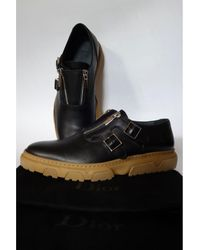 Dior Chaussures à boucles cuir noir