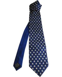 Versace Cravate soie bleu