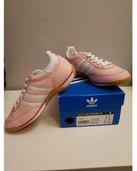 adidas Baskets cuir Gazelle rose