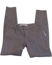 Marc Jacobs - Pantalon slim, cigarette coton animalier - Lyst