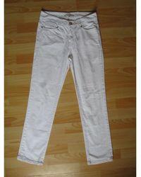 Gerard Darel Jeans droit coton blanc
