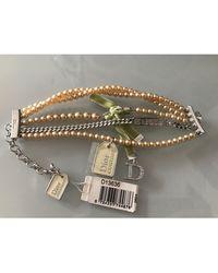 Dior - Bracelet perle (imitation) blanc - Lyst