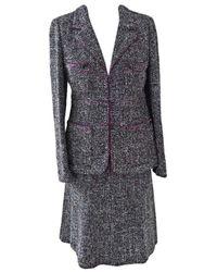 Chanel Tailleur jupe tweed noir