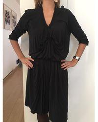Lanvin Robe mi-longue coton noir