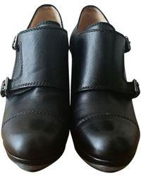 Lanvin Richelieux cuir noir
