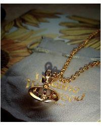 Vivienne Westwood Collier laiton doré - Métallisé