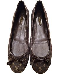 Louis Vuitton Ballerines toile gris