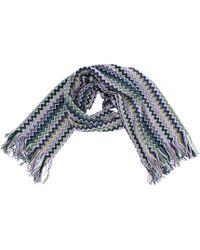 Missoni Echarpe laine multicolore - Bleu