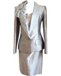 Dior Robe de mariée soie gris