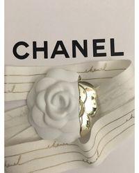 Chanel Pin's résine blanc