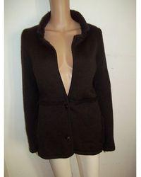 Chanel Gilet, cardigan laine marron