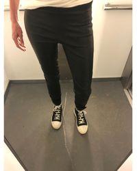 Rick Owens - Pantalon slim, cigarette cuir noir - Lyst