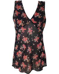 Dolce & Gabbana - Top, tee-shirt soie noir - Lyst