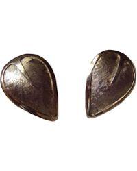 Balmain Boucles d'oreille acier doré - Métallisé