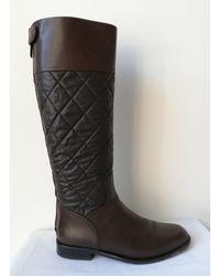 Chanel Bottes cavalières cuir marron