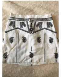 Maje - Jupe courte coton blanc - Lyst