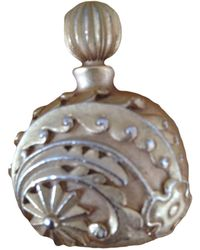 Lanvin - Broche métal doré - Lyst