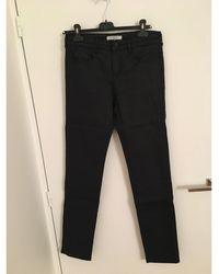 Gerard Darel Jeans droit coton bleu