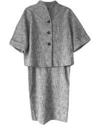 Max Mara Tailleur jupe chanvre gris
