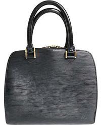 Louis Vuitton Sac à main en cuir cuir noir